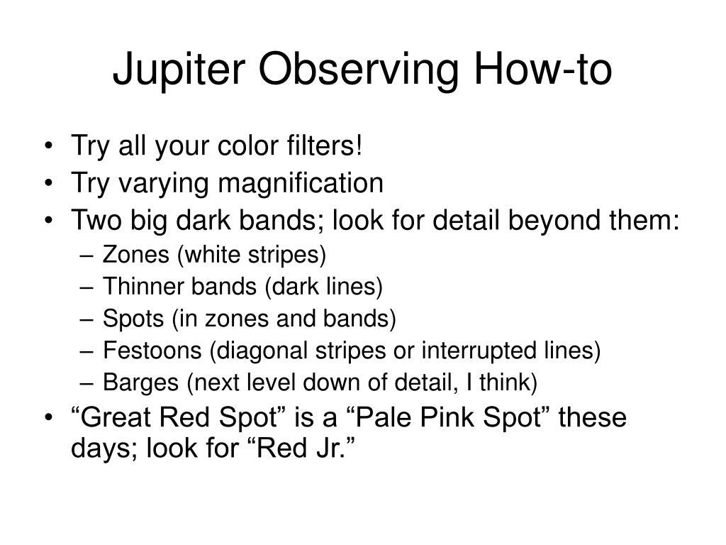 Jupiter Observing How-to