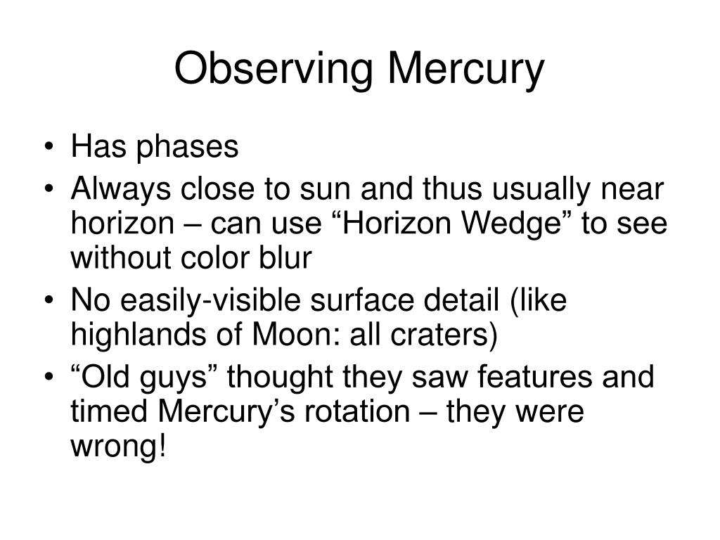 Observing Mercury