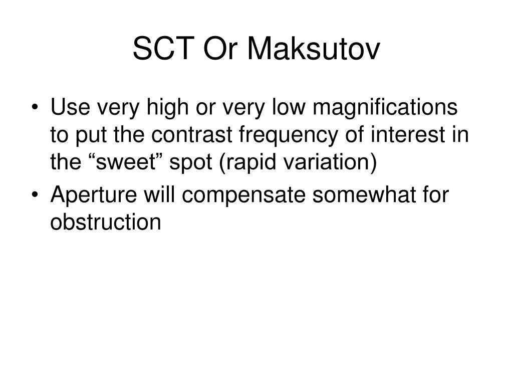 SCT Or Maksutov