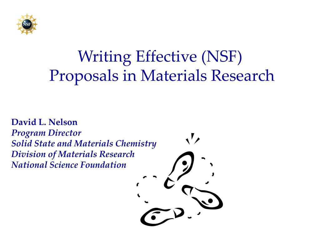 nsf research proposal essay