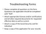 troubleshooting forms
