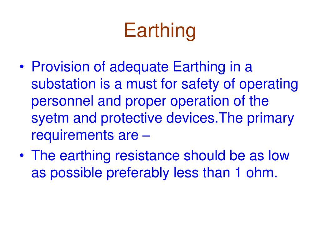 Earthing