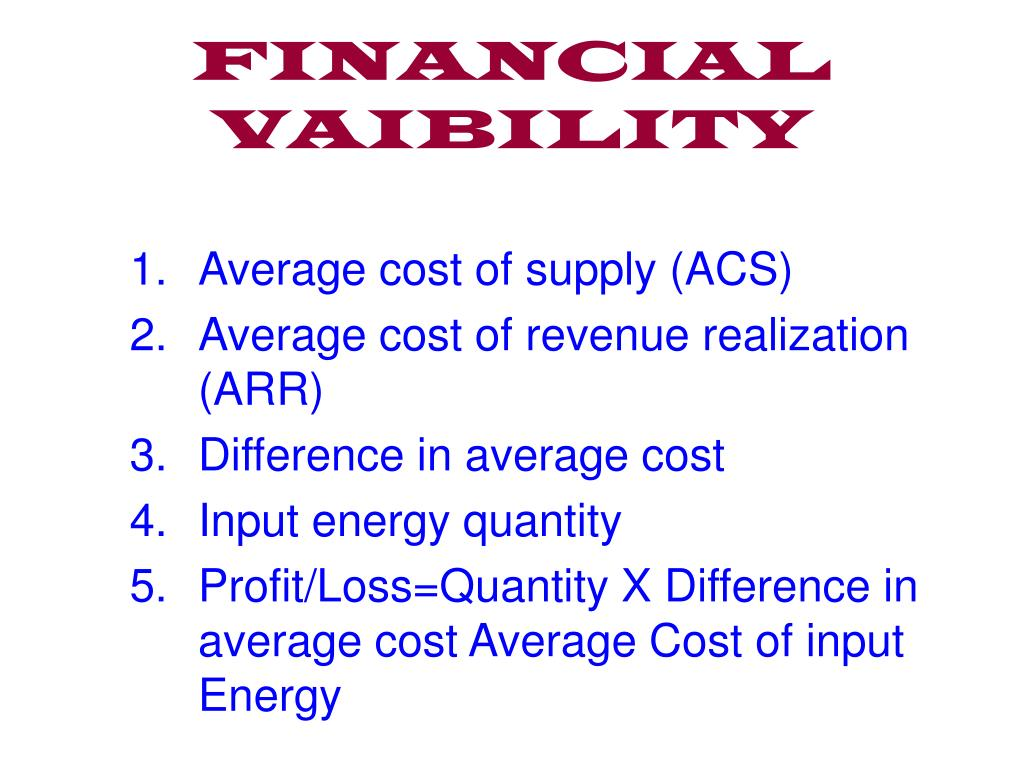 FINANCIAL VAIBILITY