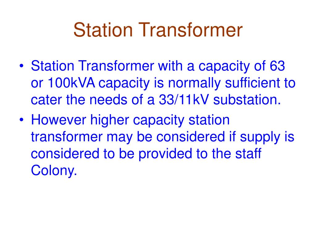 Station Transformer