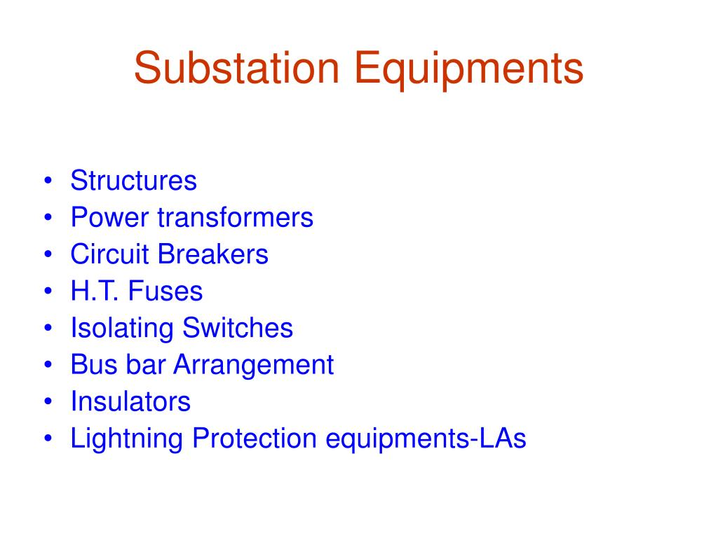 Substation Equipments