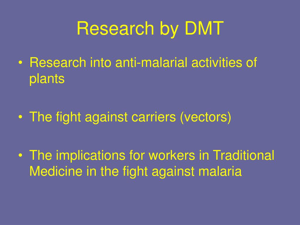 Research by DMT