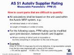 as 51 autoliv supplier rating measurable parameters ppm ii