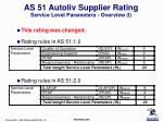as 51 autoliv supplier rating service level parameters overview i