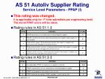 as 51 autoliv supplier rating service level parameters ppap i
