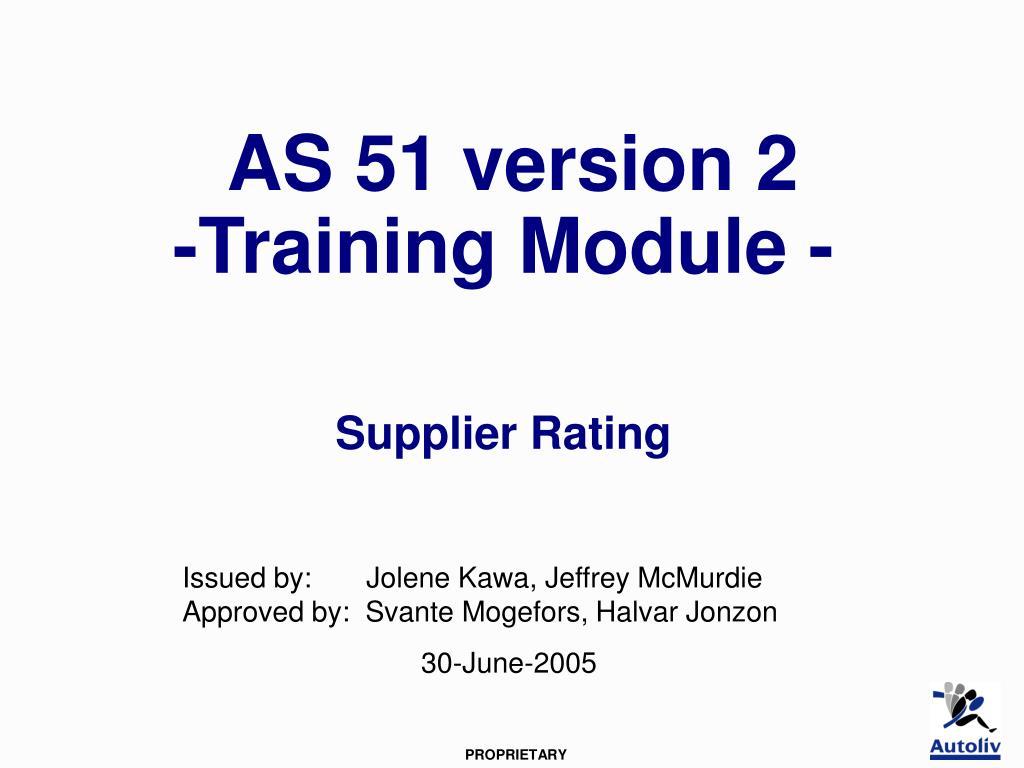 AS 51 version 2