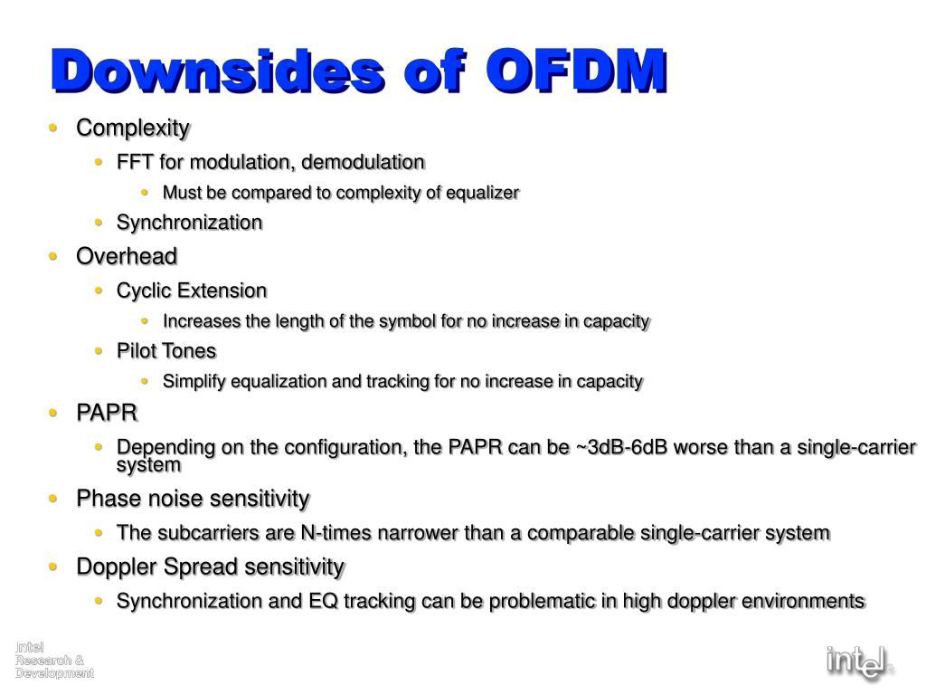 Downsides of OFDM