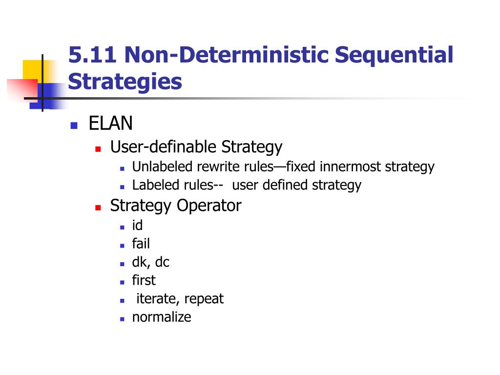 5.11 Non-Deterministic Sequential Strategies