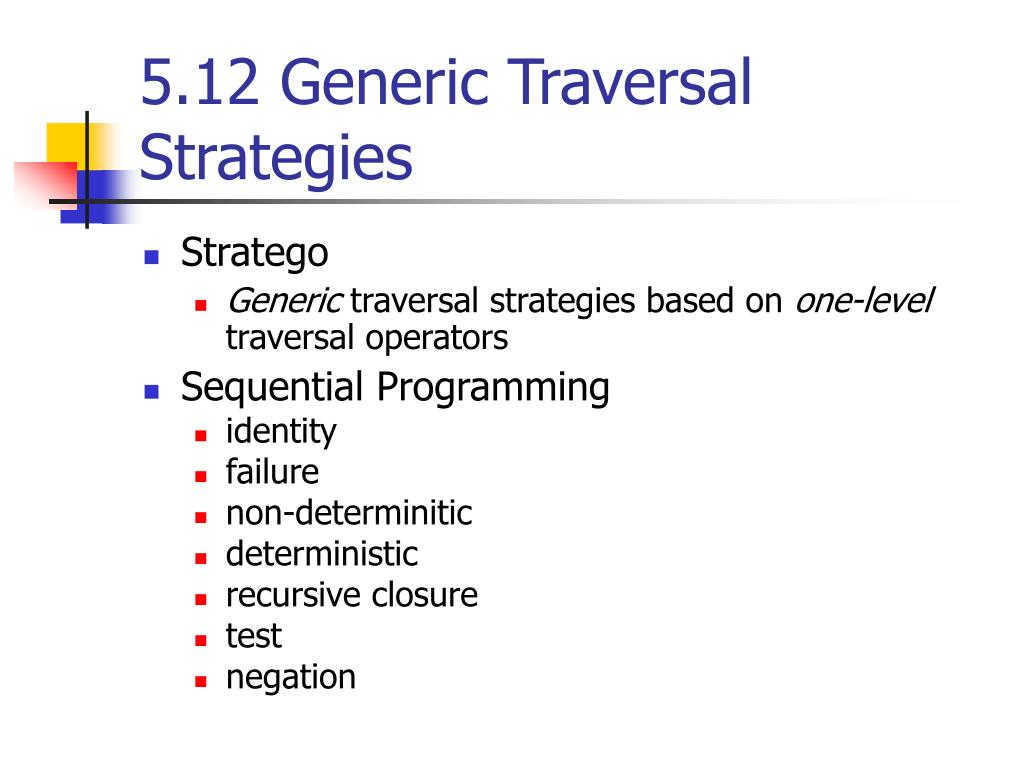 5.12 Generic Traversal Strategies