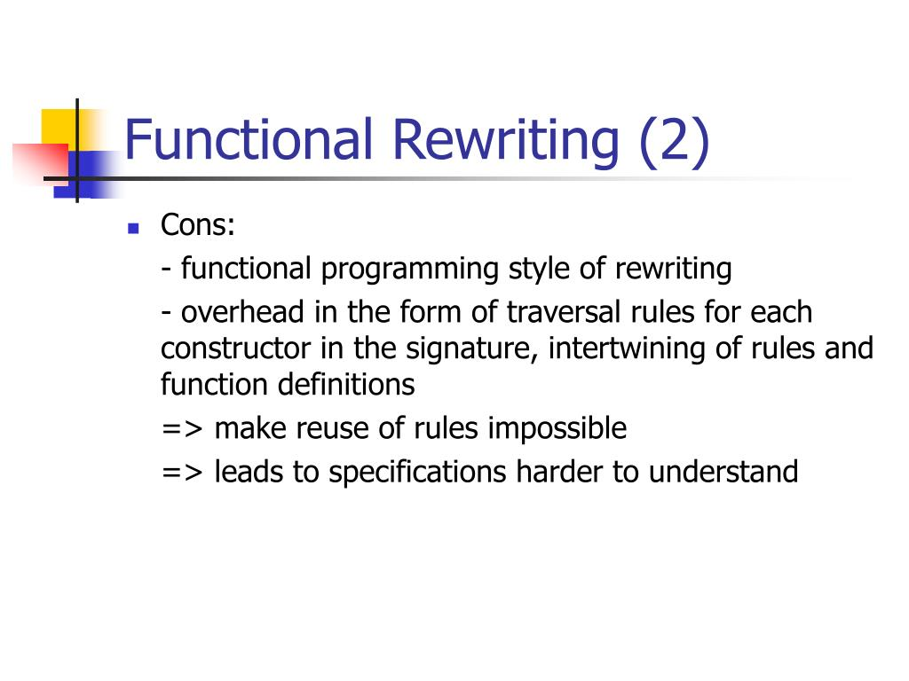 Functional Rewriting (2)