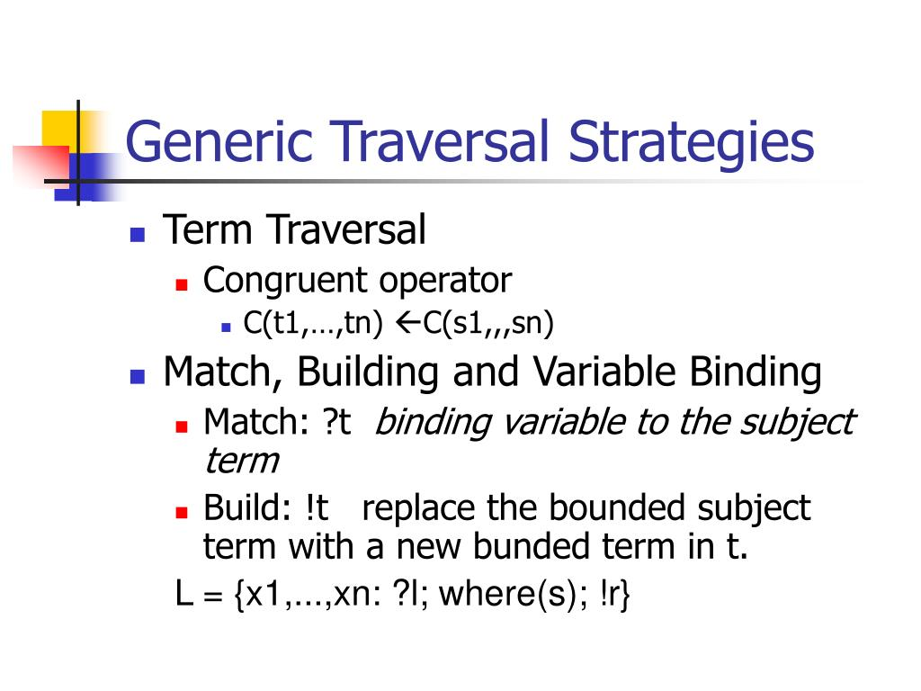 Generic Traversal Strategies