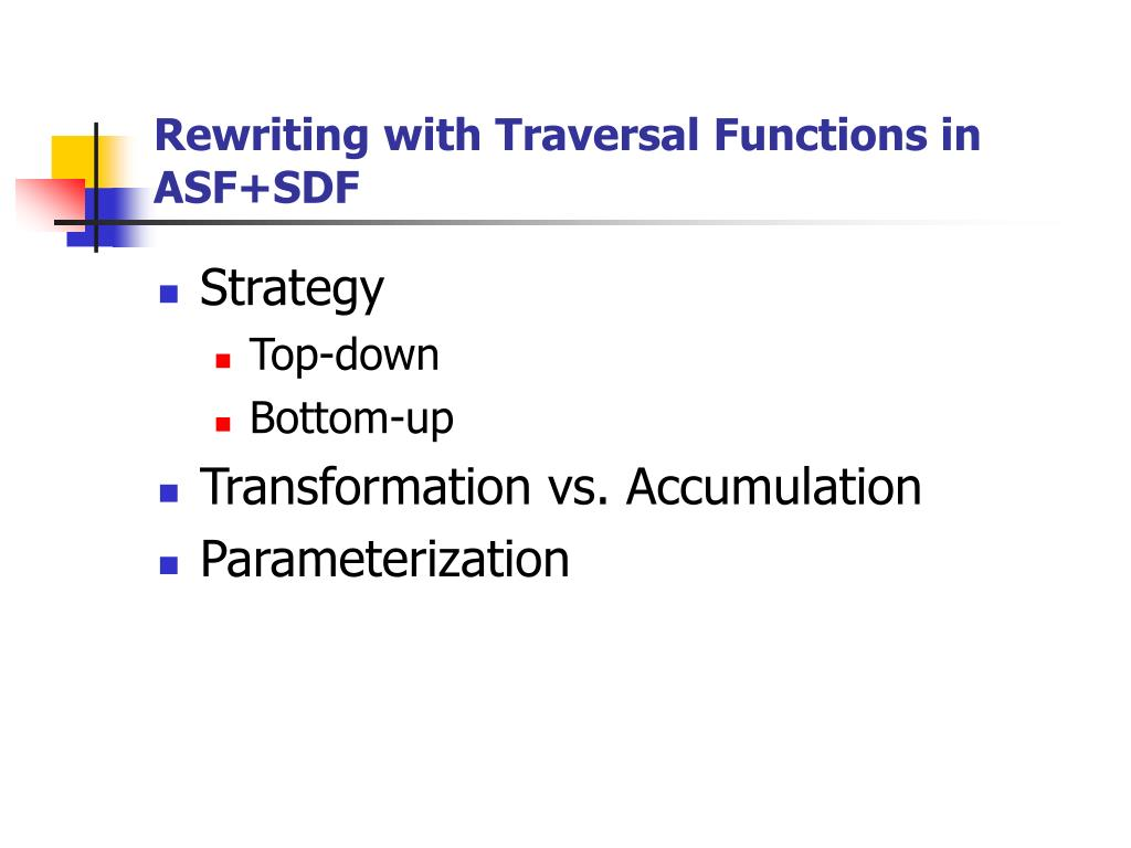 Rewriting with Traversal Functions in ASF+SDF