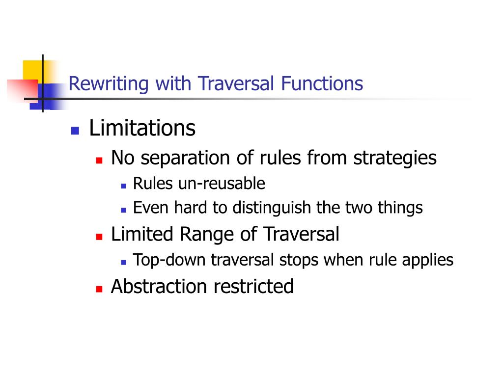 Rewriting with Traversal Functions