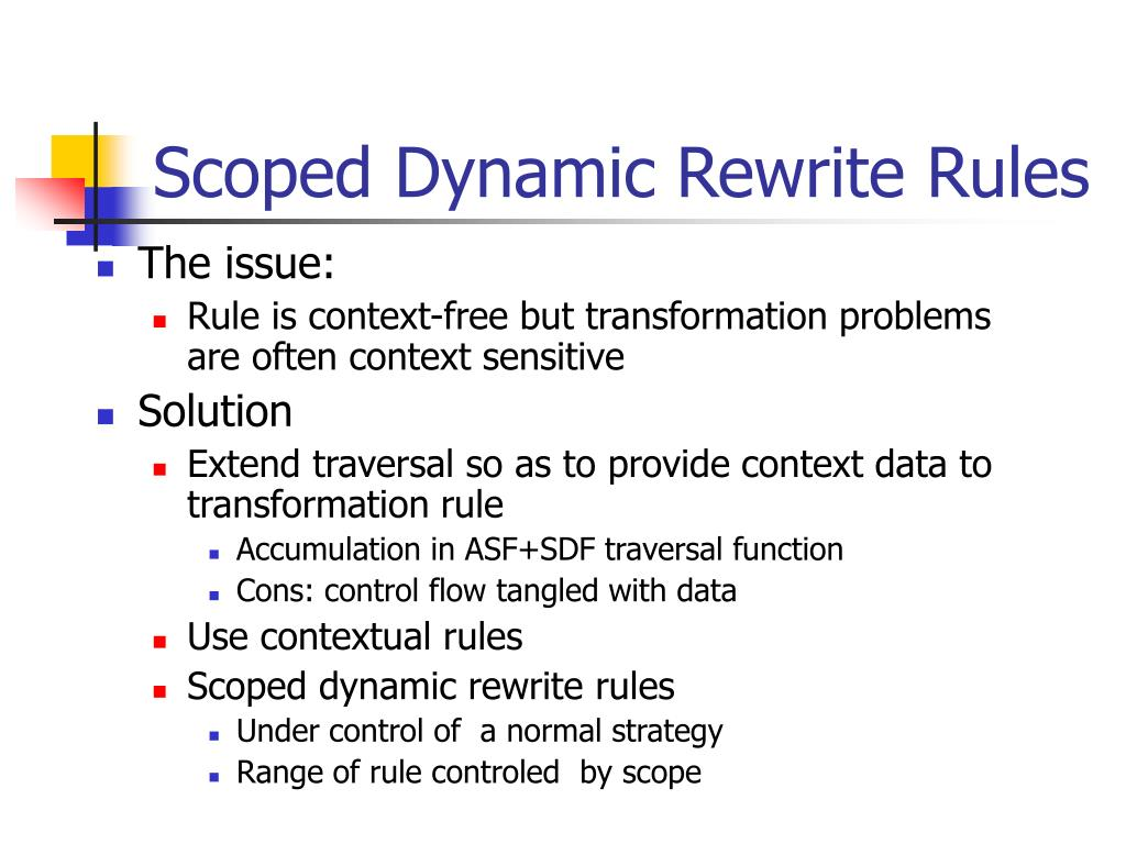 Scoped Dynamic Rewrite Rules