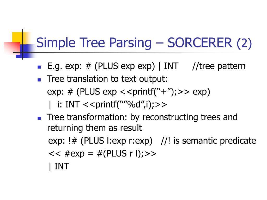Simple Tree Parsing – SORCERER