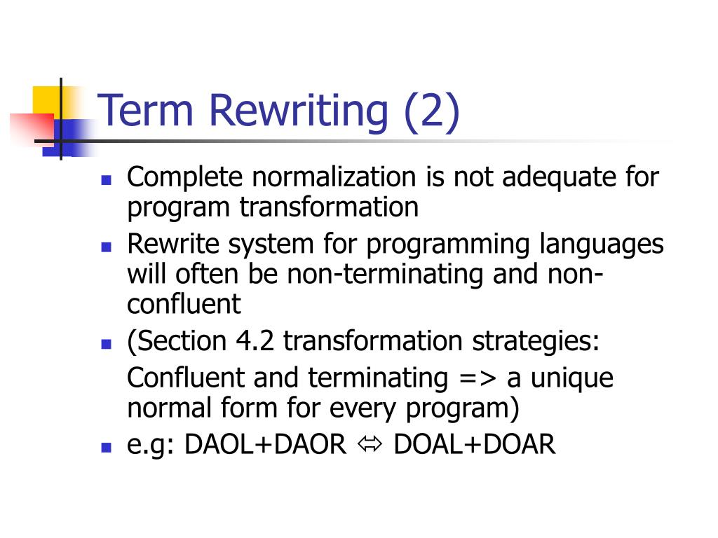 Term Rewriting (2)