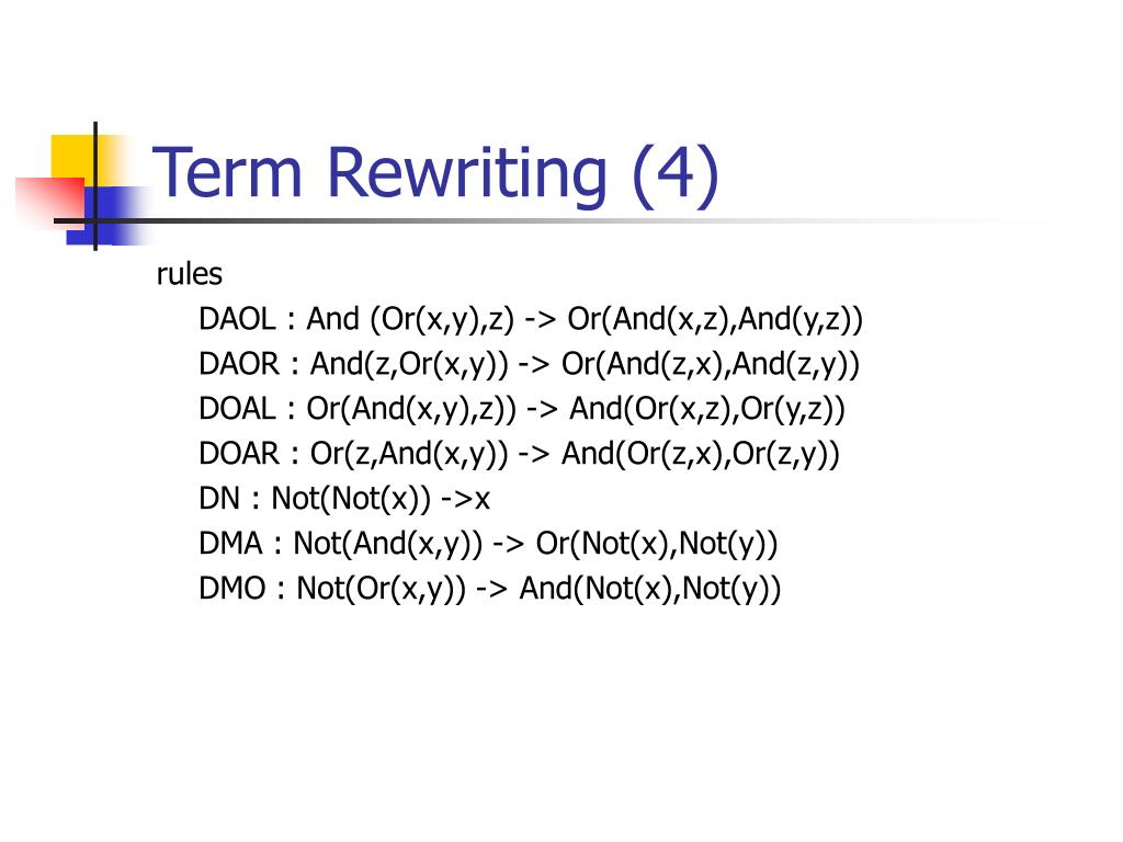 Term Rewriting (4)