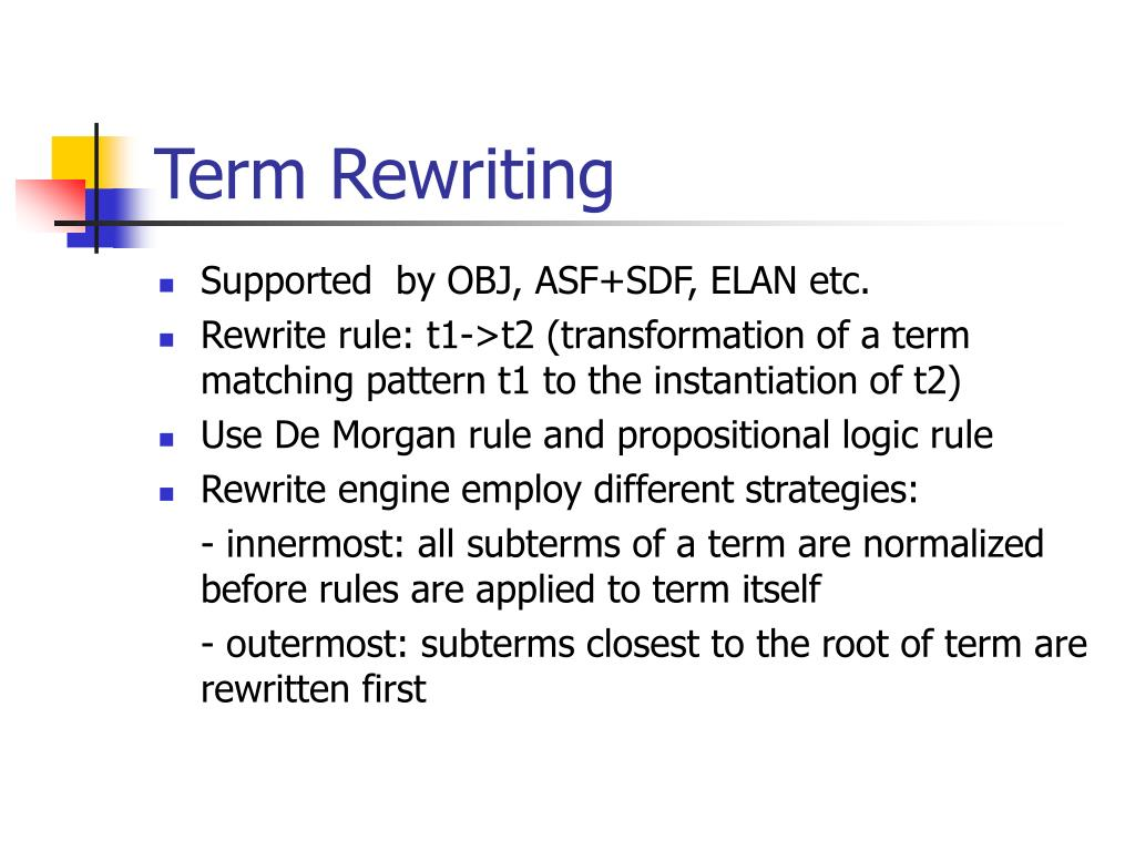 Term Rewriting
