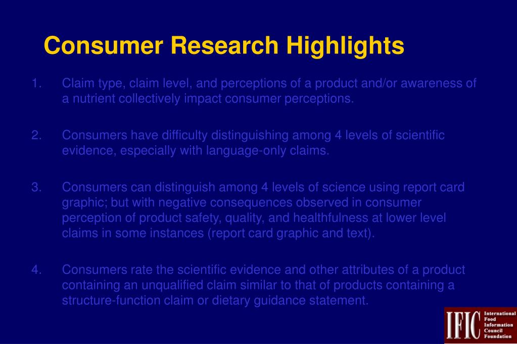 Consumer Research Highlights