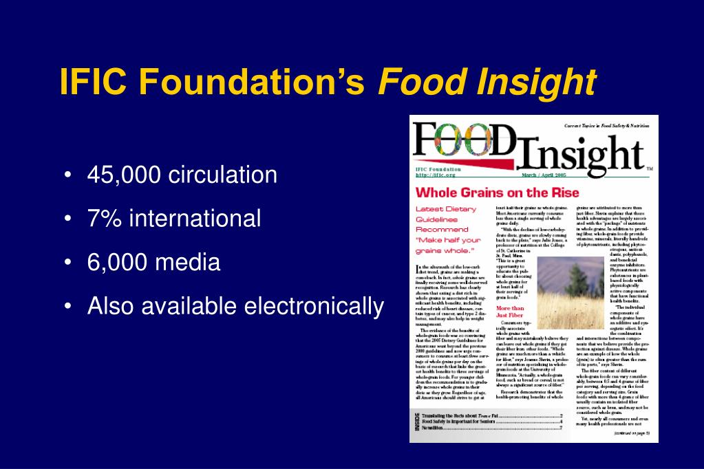 IFIC Foundation's