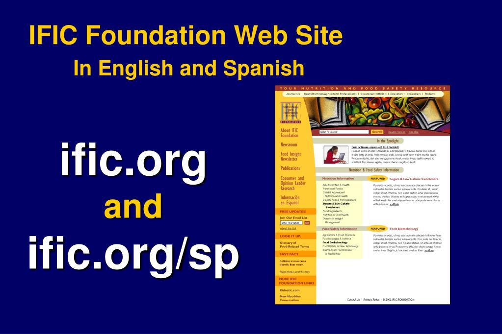 IFIC Foundation Web Site