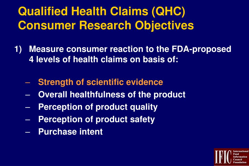 Qualified Health Claims (QHC)