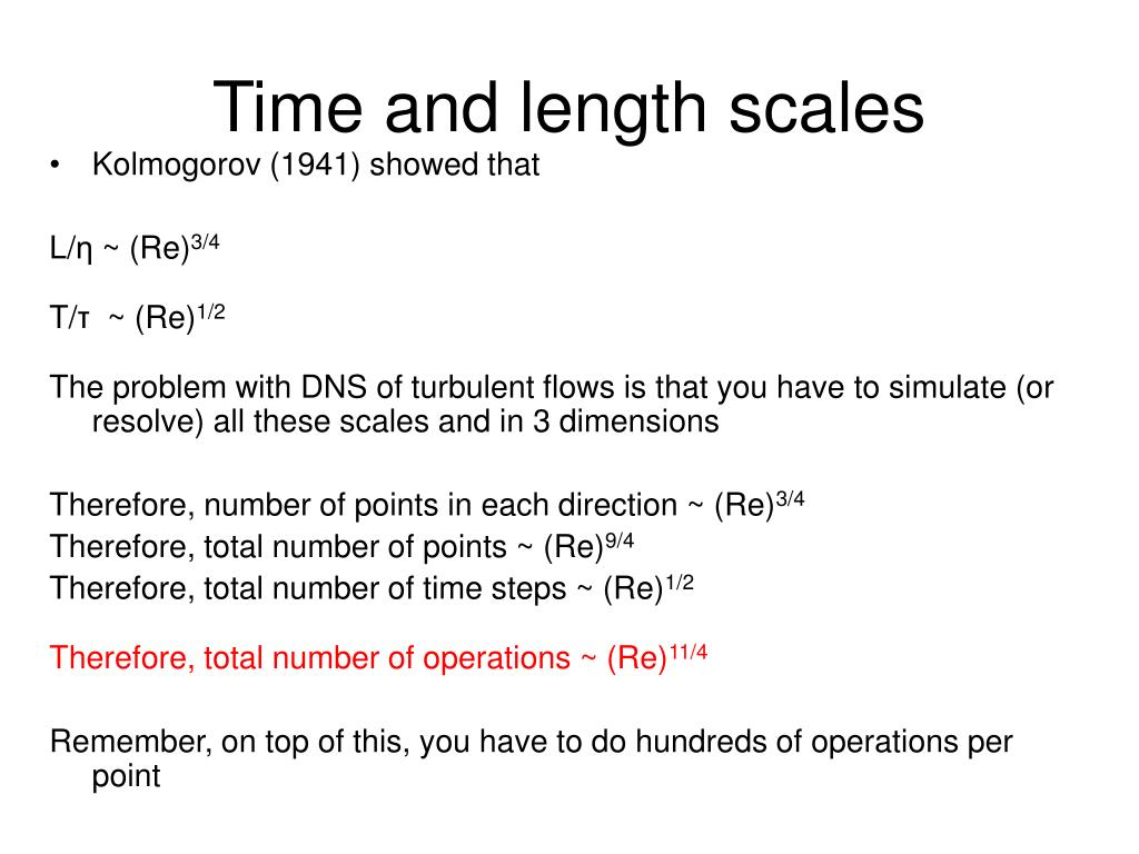 Time and length scales