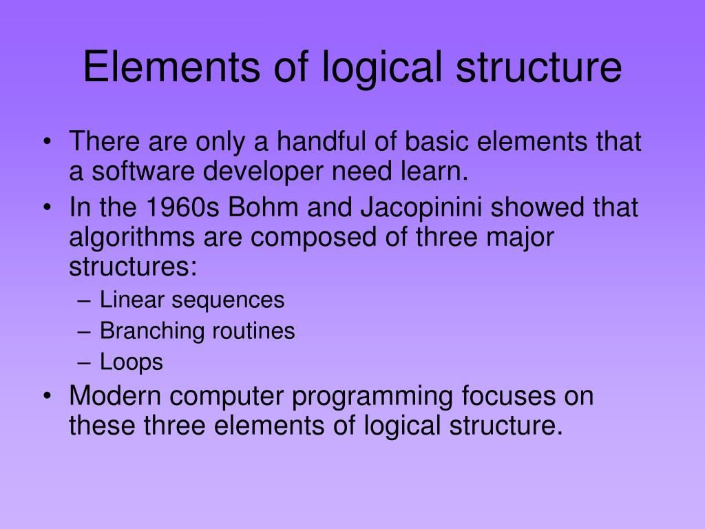 Elements of logical structure