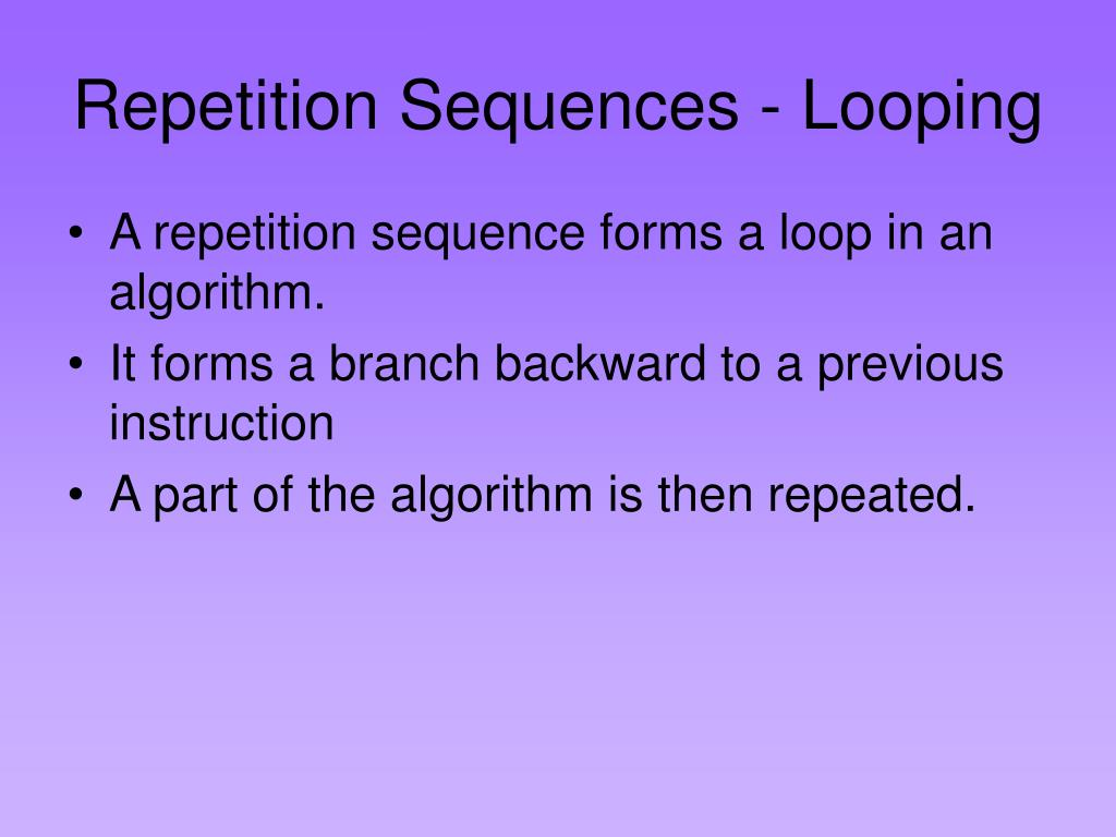 Repetition Sequences - Looping