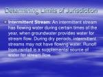 determining limits of jurisdiction14
