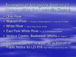 examples of navigable section 10 waters within the louisville district
