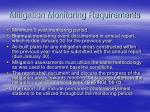 mitigation monitoring requirements
