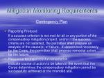 mitigation monitoring requirements93