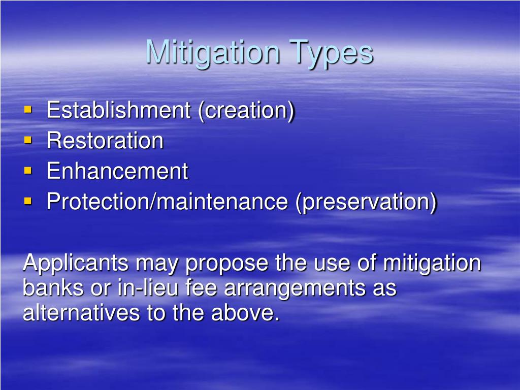 Mitigation Types