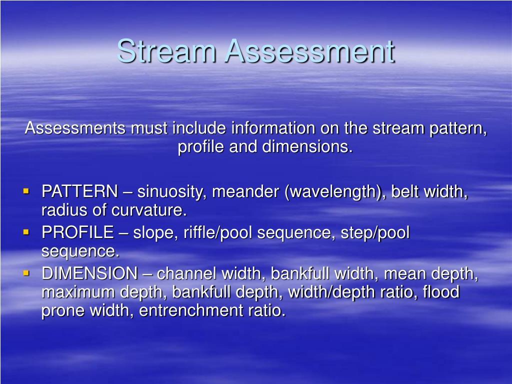 Stream Assessment