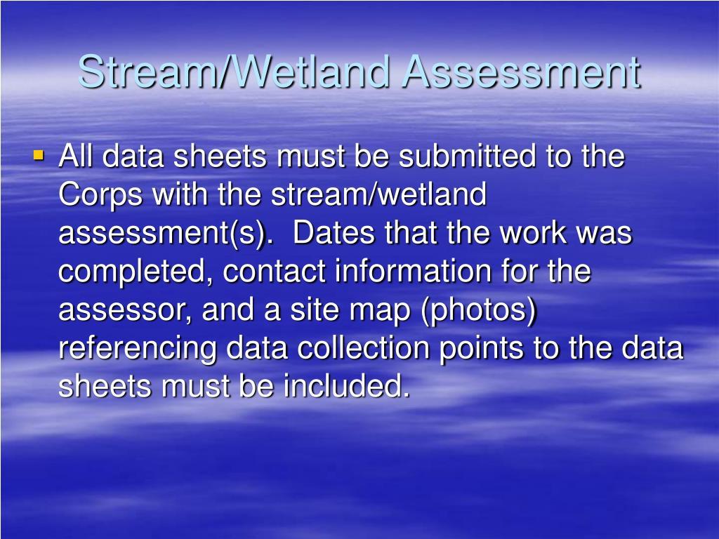 Stream/Wetland Assessment