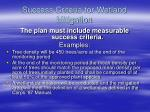 success criteria for wetland mitigation