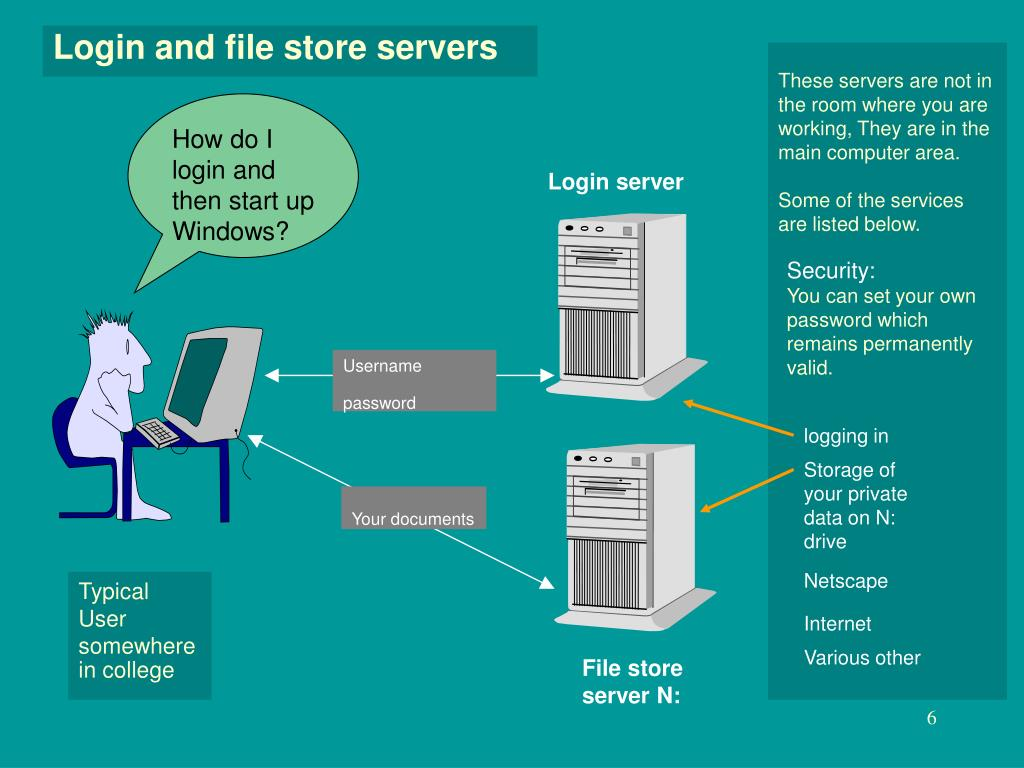Login and file store servers