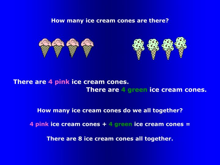 How many ice cream cones are there?