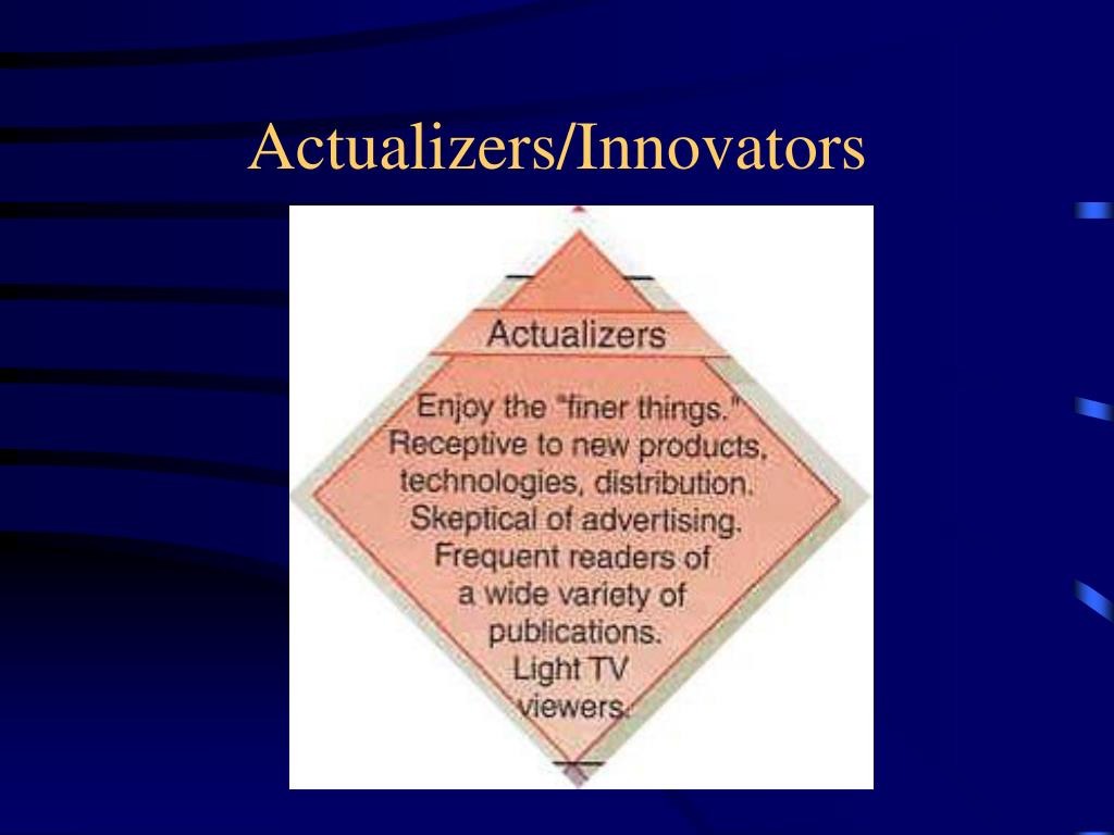 Actualizers/Innovators