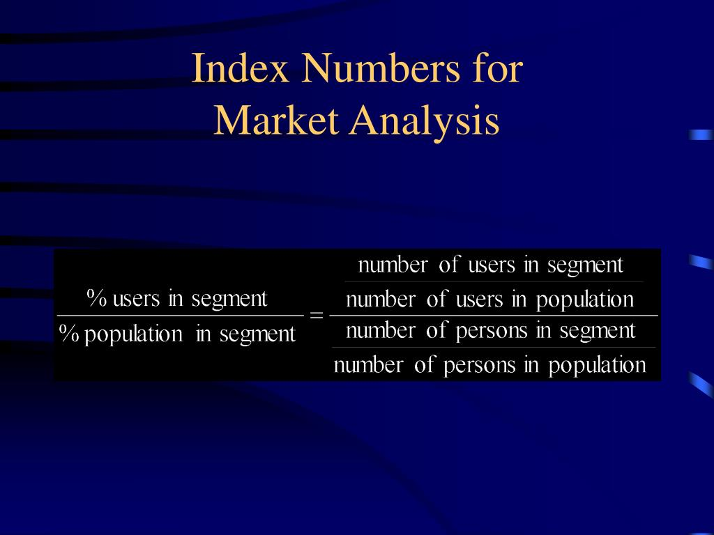 Index Numbers for