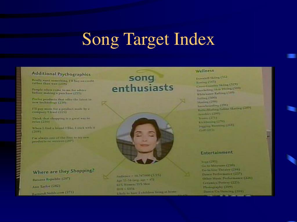 Song Target Index