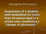 discipline procedure12