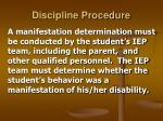 discipline procedure17