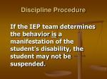 discipline procedure22