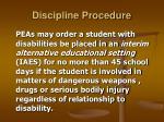 discipline procedure25